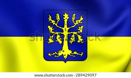 3D Flag of the Hagen, Germany. Close Up.    - stock photo