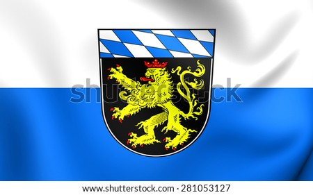 3D Flag of Upper Bavaria, Germany. Close Up.    - stock photo