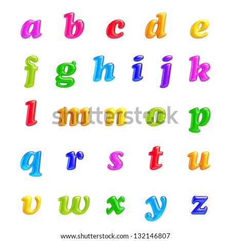 3D Font creative.ABC collection.Isolated. Alphabet type letters with numbers and symbols. High Quality clean sharp letters. a, b, c, d, e, f, g, h, i, j, k, l, m, n, o, p, q, r, s, t, u, v, w, x, v, z - stock photo