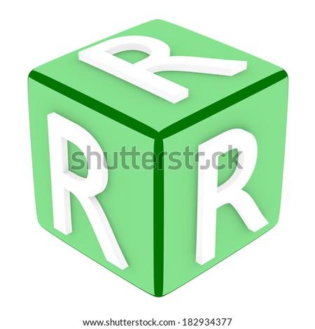 3d Font Cube Letter R - stock photo