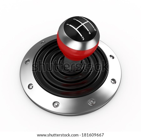 3d Gear Stick - isolated - stock photo
