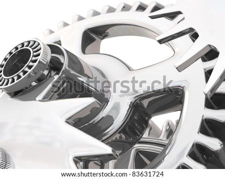 3d gears. Work concept. - stock photo