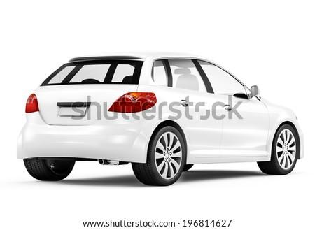 3D Generic designed car - stock photo