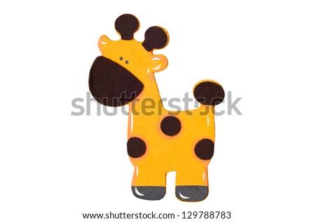 3d Giraffe isolated on white background. - stock photo