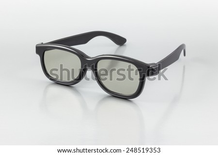 3D Glasses on the gray background - stock photo
