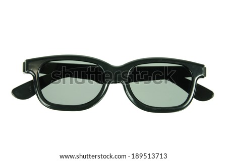 3D Glasses on White Background - stock photo