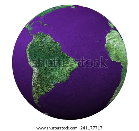 3d globe in isolation - stock photo