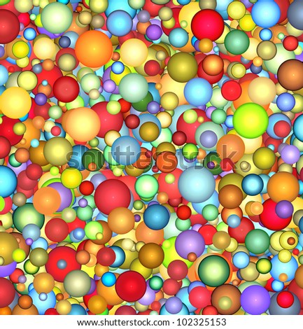 3d glossy floating bubble backdrop in multiple color - stock photo