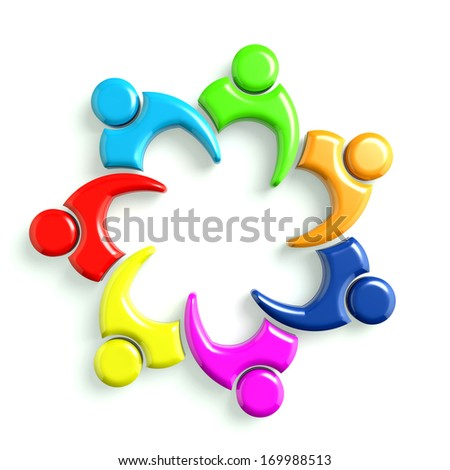 3D Glossy Illustration Business Icon Meeting 7 - stock photo