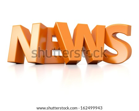 3D glossy text News - stock photo