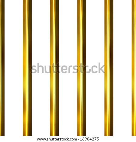 3d golden bars - stock photo