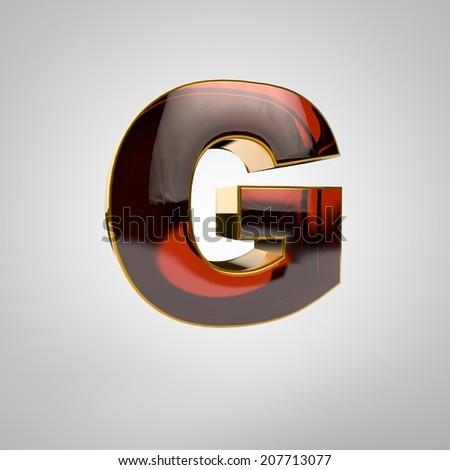 3d golden letter - g - stock photo