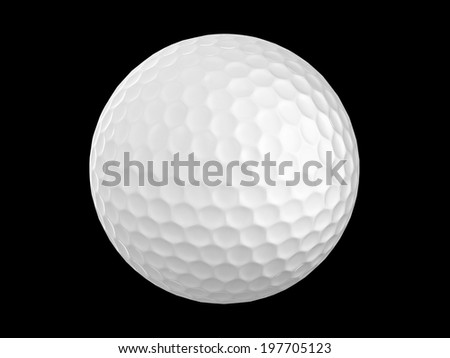 3d golf ball isolate on black - stock photo