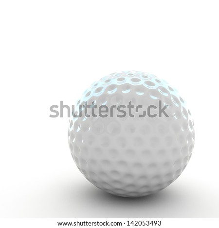 3d Golf ball isolated - stock photo
