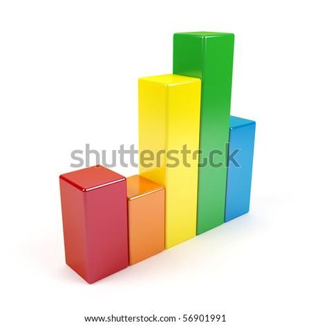3d graph. - stock photo