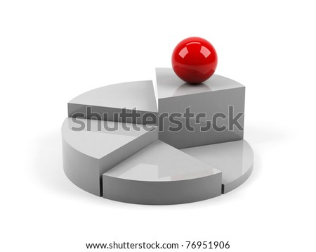 3d graph on white background. - stock photo
