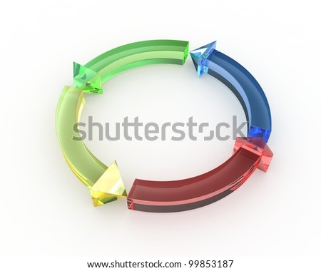 3d graph showing rise in profits or earnings - stock photo