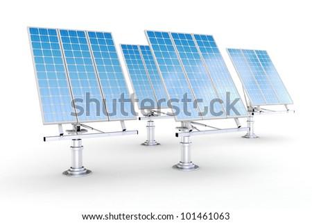 3d green energy concept - stock photo