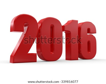3d happy new year 2016 - stock photo