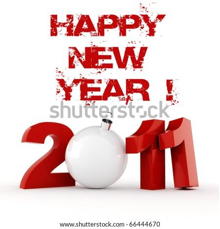 3d - 2011, Happy New Year ! - stock photo