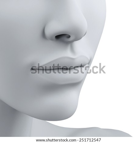 3d head - stock photo
