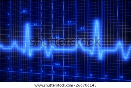 3D. Healthcare And Medicine, Medical Exam, Pulse Trace. - stock photo