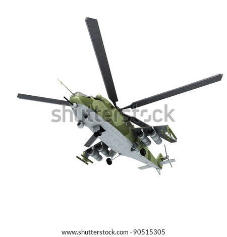 3d helicopter - stock photo