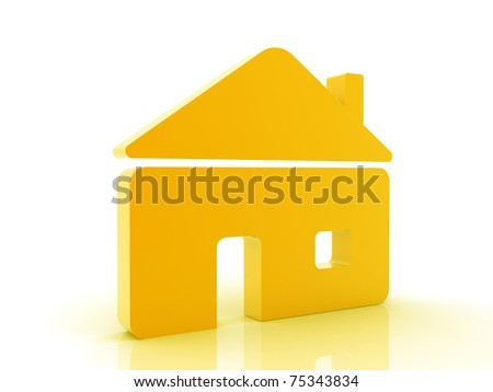3d Home icon. - stock photo