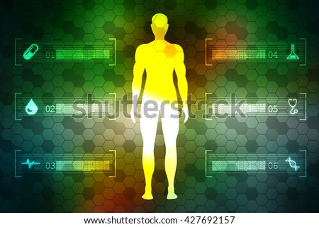 2d Human body - stock photo