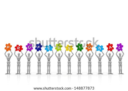 3D Human hand up with Performance Sign - stock photo