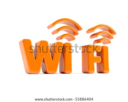 3d icon of wifi concept - stock photo