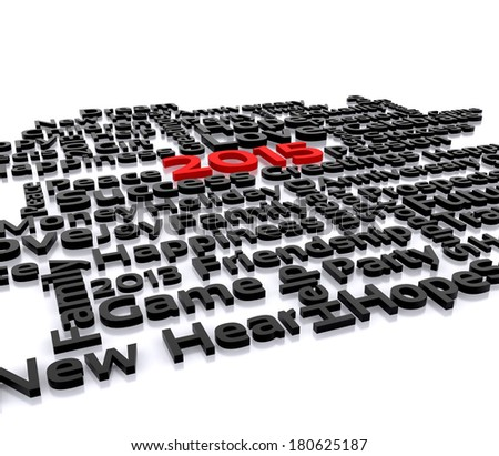 3D illustration - a wish for the new year, 2015 - stock photo