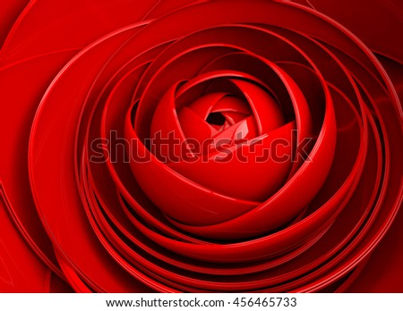 3D illustration abstract background  flower.Petal detail.Rose floral - stock photo