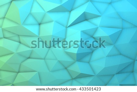 3D illustration - Blue low poly texture - stock photo