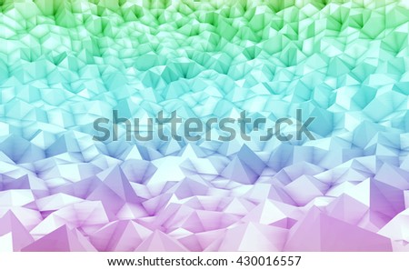 3d illustration - Colorful low poly texture - stock photo