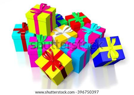 3D illustration - gift/ present concept. - stock photo