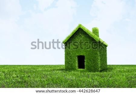 3D Illustration - Green grass texture - stock photo