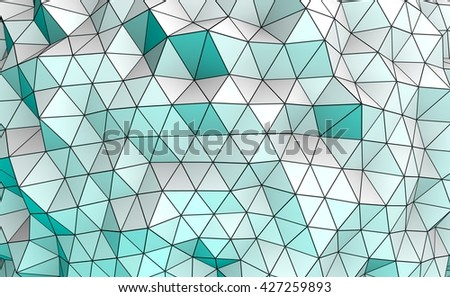 3D illustration - Low poly texture - stock photo
