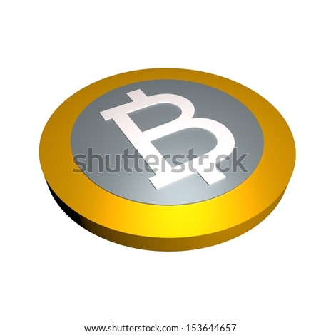 3d illustration of a Bitcoin - stock photo