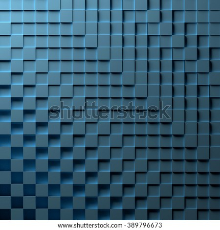 3D illustration of a blue abstract background - stock photo