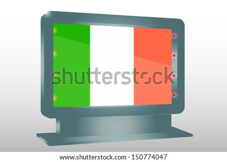 3D Illustration of a Glass Holder isolated with the flag of Ireland - stock photo