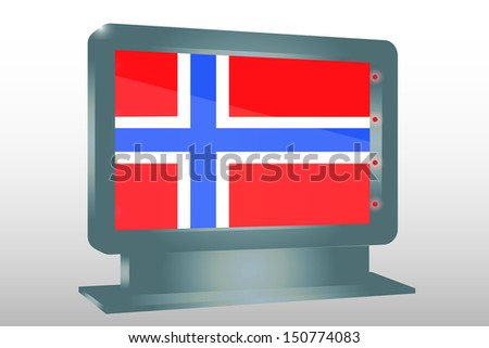 3D Illustration of a Glass Holder isolated with the flag of Norway - stock photo