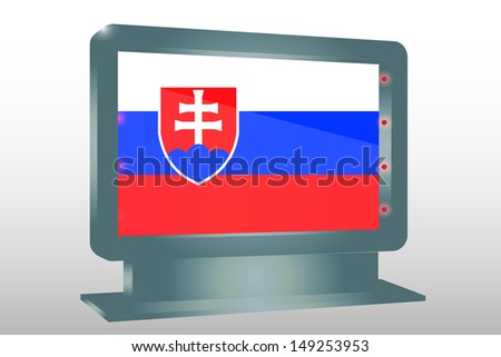 3D Illustration of a Glass Holder isolated with the flag of Slovakia - stock photo