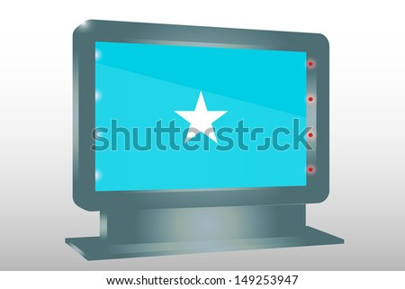 3D Illustration of a Glass Holder isolated with the flag of Somalia - stock photo