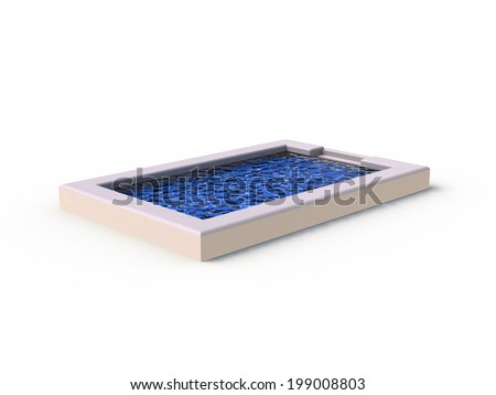 3D Illustration of a Swimming Pool - stock photo