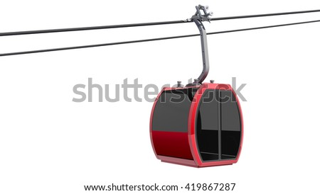 3D Illustration of Cableway - stock photo