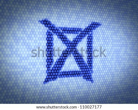 3d illustration of check mark sign on computer screen - stock photo