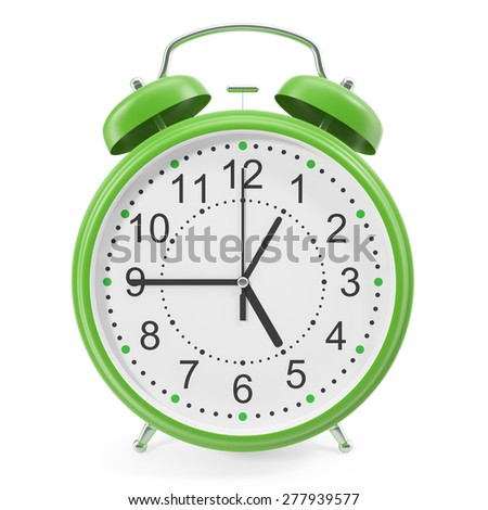3d illustration of desktop alarm clock. High-resolution image with shadows - stock photo