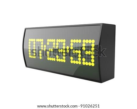 3d illustration of digital alarm clock - stock photo