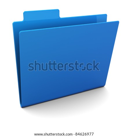 3d illustration of empty blue folder - stock photo